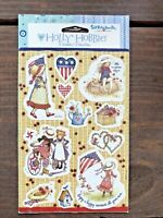 VTG 2004 MIP Holly Hobby Scrapbook Stickers 2 Sheets American Greetings Red/Blue