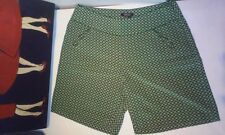 RAOUL Silk shorts Green print US size 10 Retails $ 325