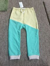 NEW Marks & Spencer green and yellow jogging bottoms age 2-3 years