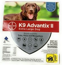 Bayer K9 Advantix II Ticks & Fleas for Extra Large Dogs Over 55lbs - 4 Doses
