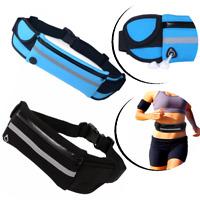 Gürteltasche Fitnesstasche mit Kopfhörer Trinkflaschenhalter Joggingtasche Blau