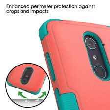 RED TEAL TUFF SHOCKPROOF PROTECTOR COVER CASE For ZTE Blade X Max Z983