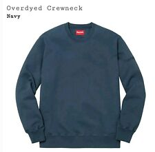 SS17 Supreme Overdyed Crewneck Navy Size small