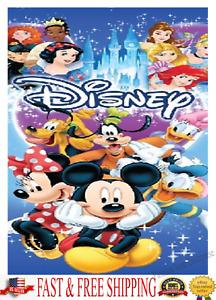 Disney Towel Mickey Minnie Goofy Donald Daisy Pluto Princesses Beach Towel
