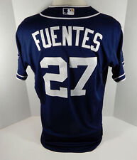 2014 San Diego Padres Reymond Fuentes #27 Game Issued Navy Jersey JC Patch