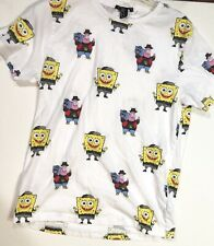 SPONGEBOB SQUARE PANTS & PATRICK STAR SIZE MEDIUM WHITE  MEN'S T-SHIRT