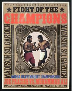 Muhammad Ali + Joe Frazier Fight Program 3/8/71 1st Fight MSG Garden Boxing HOF