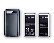 2X alta capacidad baterías De Repuesto Con Cargador De Pared Para Samsung Galaxy S5