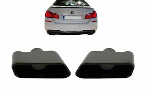 Exhaust Muffler Tips for BMW 5 Series F10 F11 11-17 Performance 550i Look Black