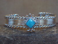 Navajo Indian Turquoise Sterling Silver Cuff Bracelet - Louise Joe
