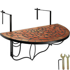 Table de balcon mosaïque pliante Rabattable Table suspendue Table Murale Terre