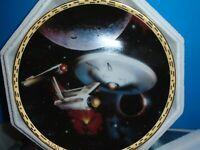Star Trek The Voyagers USS Enterprise NCC- 1701 Collectors Plate Hamilton 1994