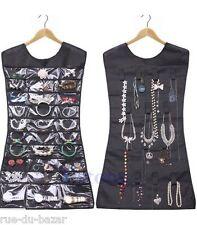 Robe Range Présentoire Porte Organisateur Bijoux Bague Bracelet Noir Neuf
