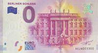 BILLET 0 EURO BERLINER SCHLOSS 3 ALLEMAGNE 2017 NUMERO 3300