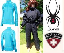 lot designer POSTCARD insulated snow ski suit SPYDER thermal baselayer top M 8