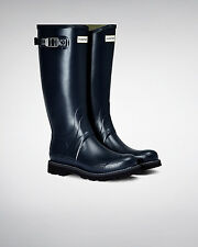 Hunter Wellington Boots Wellies Mens Balmoral II Navy Size 10 Eu 44 New