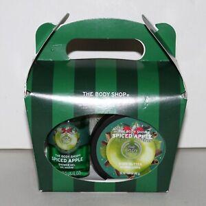 The Body Shop Spiced Apple treat box Shower Gel Body Butter Bath Lily