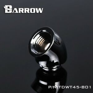 """Barrow G1/4"""" Silver 45 Degree Fitting Adapter-032"""