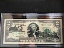 DELAWARE LICENSED STATEHOOD U.S. $2 BILL! Two Dollar Bill! COA & FOLIO!