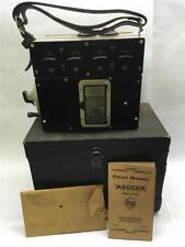 Resistance Bridge Megger Tester 500V No. 1420 With Case And Manual 1935