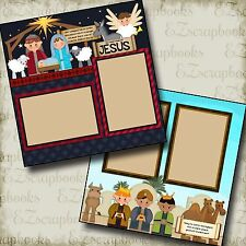 NATIVITY CHRISTMAS - 2 Premade Scrapbook Pages - EZ Layout 436