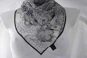 Bebaroque ~ ESMERALDA ~ tattoo inspired 100% silk scarf BNWoT hand printed RARE