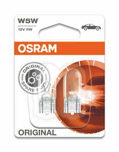 Osram  WEDGE W5W 12V 5W W2.1X9.5D  (PK 2)  2825-02B
