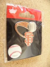 SF San Francisco Giants soaring ball glitter trail lapel pin MLB