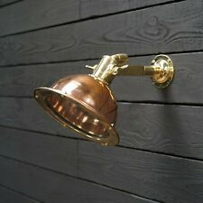 NAUTICAL REPLACE MARINE CARGO SMOOTH COPPER & BRASS PENDANT/CEILING/MOUNT LIGHT