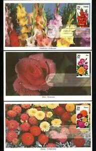 US FDC #2829-2833 SET OF 5 Mystic Cachet flowers rose lily 1994 Cincinnati OH