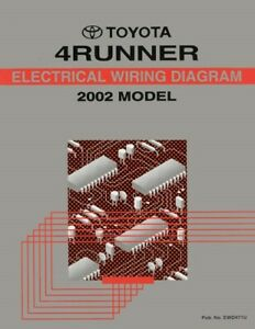 2002 Toyota 4Runner Wiring Diagrams Schematics Layout Factory OEM