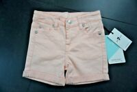 7 For All Mankind Girls' Roll Cuff Shorts Coral Size 3T 7FGT2701 $39 NWT