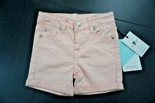 NWT 7 For All Mankind Girls' Roll Cuff Shorts Coral Size 3T 7FGT2701 $39
