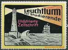 Reklamemarke - LEUCHTURM - illustrierte Zeitschrift für Studierende (#26022)