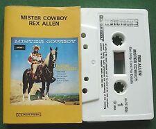 Rex Allen Mister Cowboy Stetson Label HATC 3034 Cassette Tape - TESTED