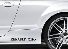 2x Side Skirt Stickers fits Renault Clio Car Graphics Premium Car Decals BL77