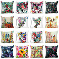 Art Cotton Linen Throw Pillow Case Sofa Waist Cushion Cover Home Decor