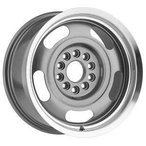 "Vision 55 Aluminum Rally 17x8 5x4.75""/5x5"" +0mm Gunmetal Wheel Rim 17"" Inch"