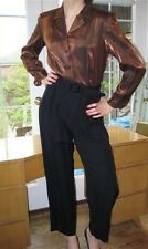 VTG JUMPSUIT 70's Bronze long sleeveTop & Black pants by Taurus II Size 8P Rare