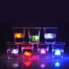 FLASHING Ice Cube - Neon Party Drink Light Stag Hen Multi-coloured Cubes LED Gif