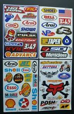 Cuatro (4) Hojas única de BMX Moto X deporte del motor Rally Racing Pegatinas: - Pack d