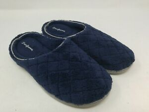 Dearfoams Women's Navy Blue Terry Slippers Size 7-8 US