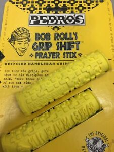 PAIR VINTAGE PEDRO'S BOB ROLL'S GRIP SHIFT PRAYER STIX  HANDLEBAR GRIPS
