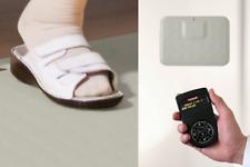 Praxis-Rufsystem mit Fußtaster & Funk-Empfänger: robust, erweiterbar, grau