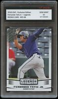FERNANDO TATIS JR. 2018 LEAF LEGENDS 1ST GRADED 10 ROOKIE CARD SAN DIEGO PADRES