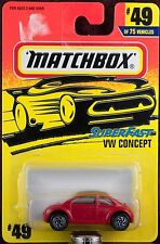 Matchbox MB 49 VW Concept Car Volkswagen Thailand Casting New On Card 1996