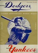 1953 WORLD SERIES PROGRAM DODGERS vs YANKEES