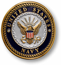 US Navy Hiking Stick Medallion USN Walking Staff Cane Medal Hike Climb Seal Coin