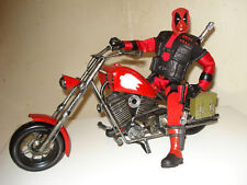 "Marvel Custom 10"" DEADPOOL w/ Custom Bike HandmadeTin"