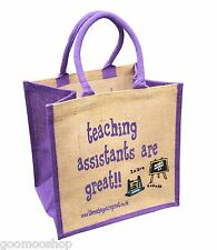 """Teaching Assistants are Great"" Jute Shopper - Gift For Teaching Assistant"